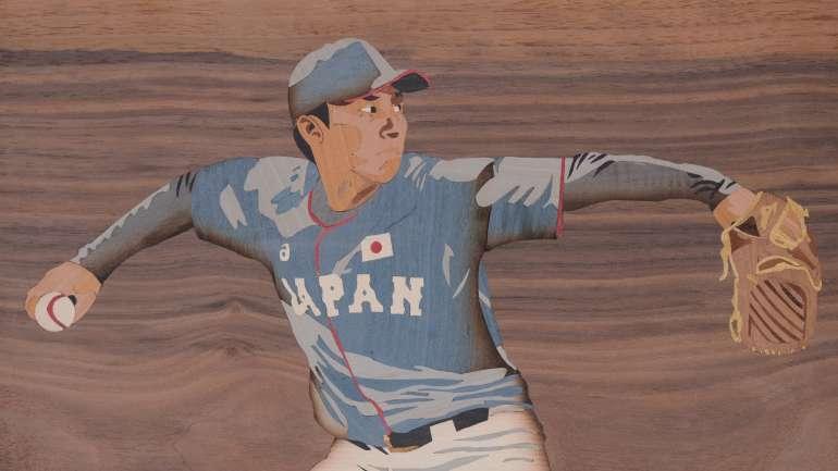 Exposition de marqueterie sur le thème des J.O. de Tokyo