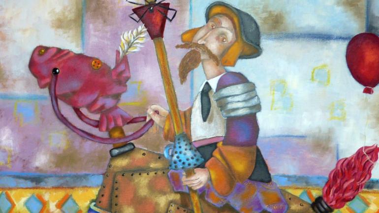 Peinture de Willy Charps au Musée du bois de Revel