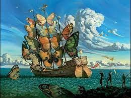 Peinture d'un bateau de Dali
